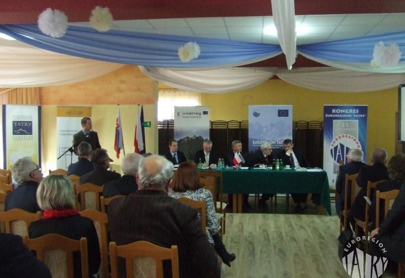 """XXI Kongres Euroregionu """"Tatry"""", Czarny dunajec 17.12.2015 r."""