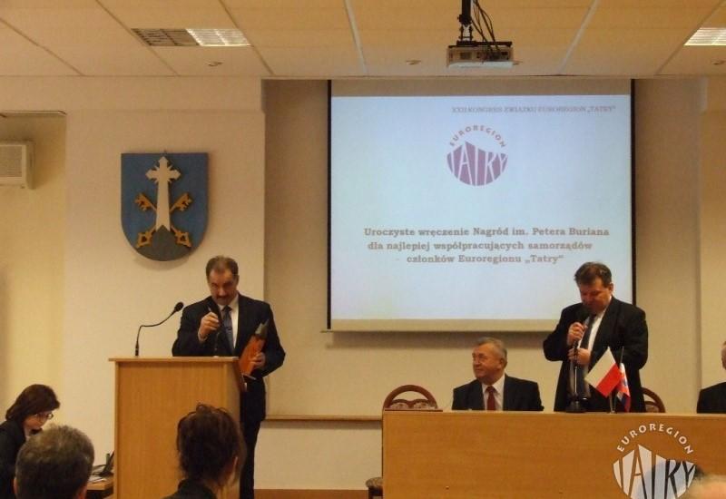 """XXII Kongres Związku Euroregion """"Tatry""""  Zakopane 12.04.2016 r."""