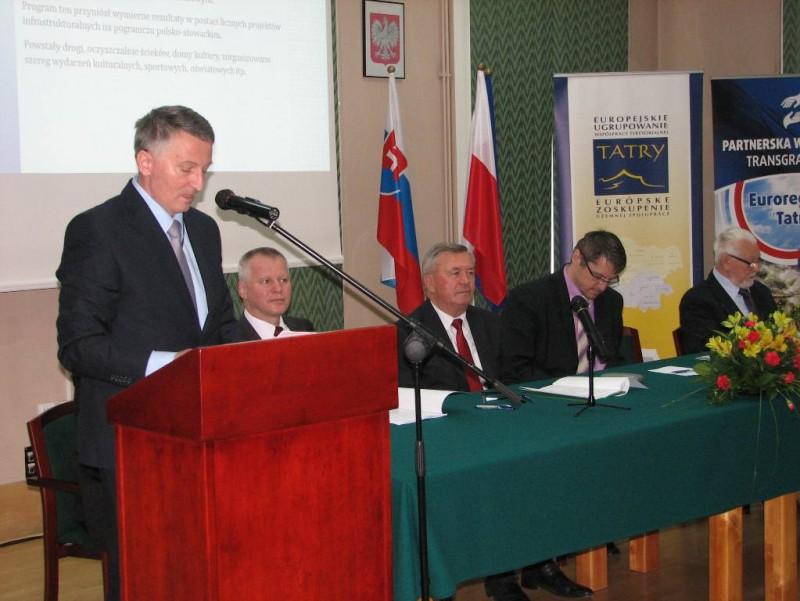"""Obrady XX Kongresu Związku Euroregion """"Tatry"""""""