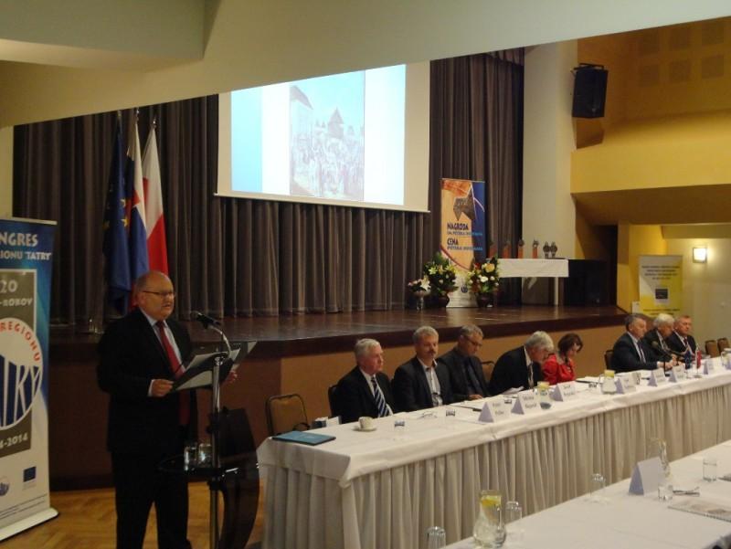"""II część XX Jubileuszowego Kongresu Transgranicznego Związku Euroregion """"Tatry"""" - 24.09.2014 r. Trstena"""