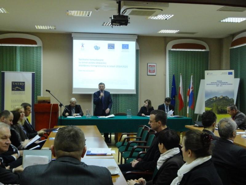 Spotkanie konsultacyjne na temat polsko-słowackiej współpracy transgranicznej w latach 2014-2020