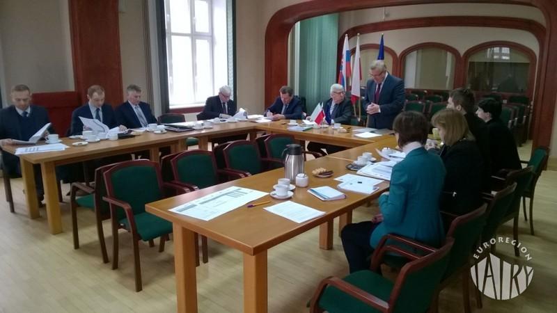 """Posiedzenie Rady Związku Euroregion """"Tatry"""", Nowy Targ 12.01.2017 r."""