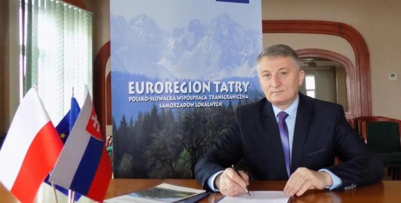 """Przewodniczacy Rady Związku Euroregion """"Tatry"""" Bogusław Waksmundzki laureatem plebiscytu """"Osobowość Ziem Górskich"""""""