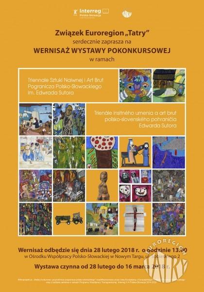 Wernisaż wystawy pokonkursowej w ramach Triennale Sztuki Naiwnej i Art Brut Pogranicza Polsko-Słowackiego im. Edwarda Sutora