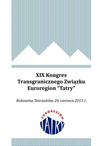 """W Bukowinie Tatrzańskiej odbędzie się XIX Kongres Transgranicznego Związku Euroregion """"Tatry"""""""