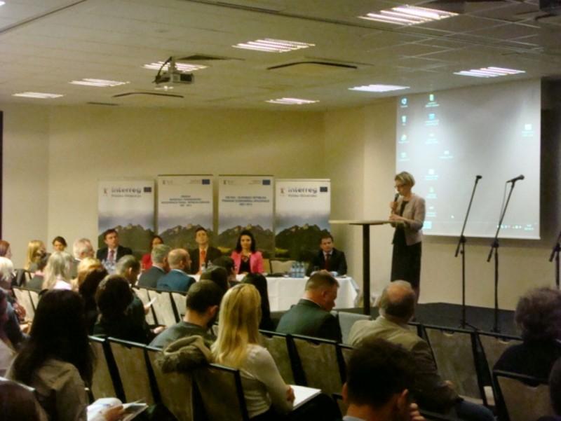 """Udział Euroregionu """"Tatry"""" w konferencji pn. """"Fundusze dla pogranicza..."""