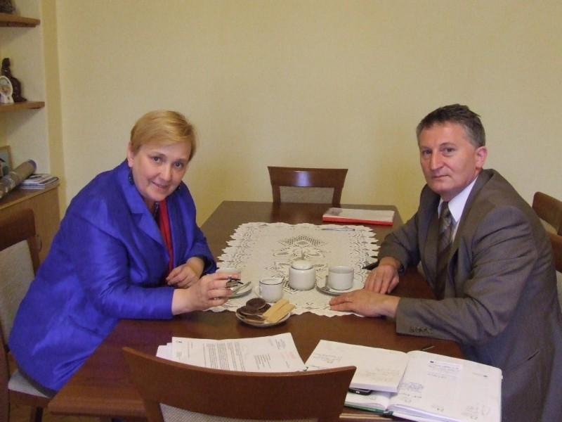 Wizyta Posłanki do Parlamentu Europejskiego pani Róży Thun w Ośrodku Współpracy Polsko-Słowackiej w Nowym Targu