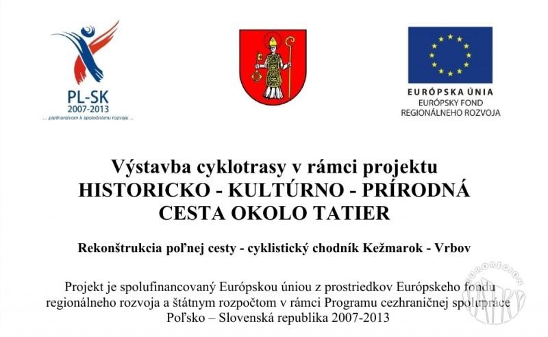 """Vrbov wybudował ścieżkę rowerową w ramach """"Historyczno-kulturowo-przyrodniczego szlaku wokół Tatr"""""""
