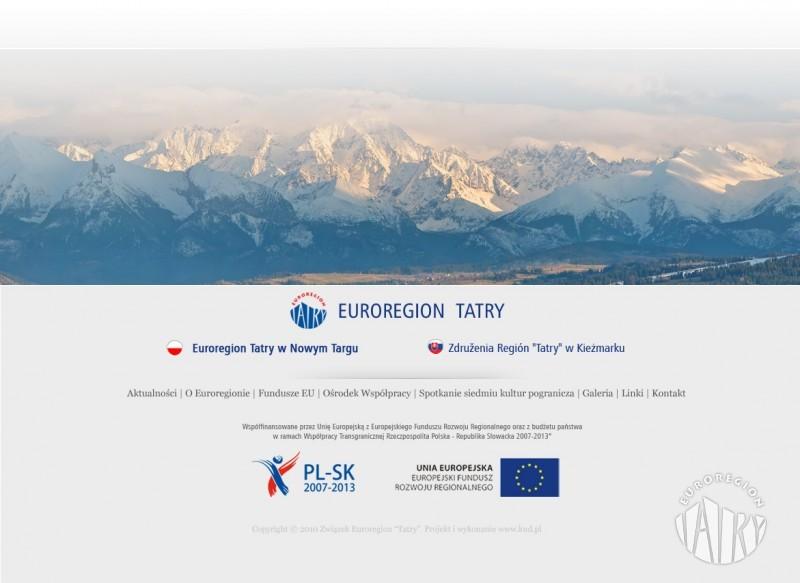 """Nowa strona internetowa Euroregionu """"Tatry"""""""