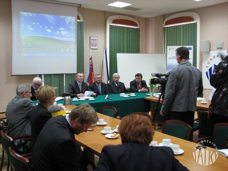 """Konferencja prasowa na temat działalności Euroregionu """"Tatry"""""""