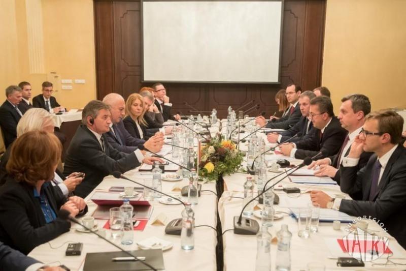 Wspólne posiedzenie prezydiów Sejmu Rzeczypospolitej Polskiej i Rady Narodowej Republiki Słowackiej  w Tatrzańskiej Łomnicy
