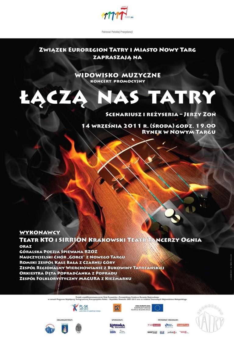 """Widowisko muzyczne - koncert promocyjny  """"Łączą nas Tatry"""""""