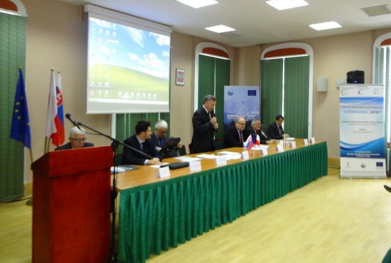 """Forum Społeczno-Ekonomiczne Euroregionu """"Tatry"""""""