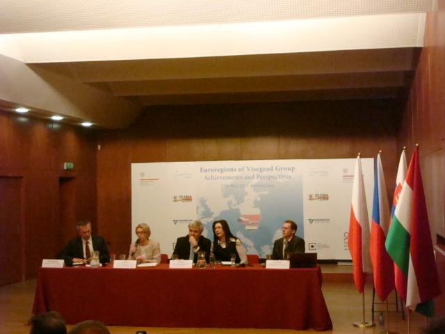 """Konferencja pn.  """"Euroregiony Grupy Wyszehradzkiej-osiągnięcia i perspektywy"""""""
