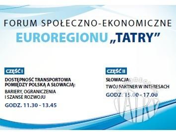 """Zaproszenie na Forum Społeczno-Ekonomiczne Euroregionu """"Tatry"""""""