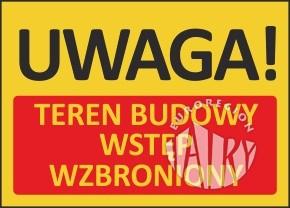 Zakaz wjazdu na teren budowy ścieżki rowerowej