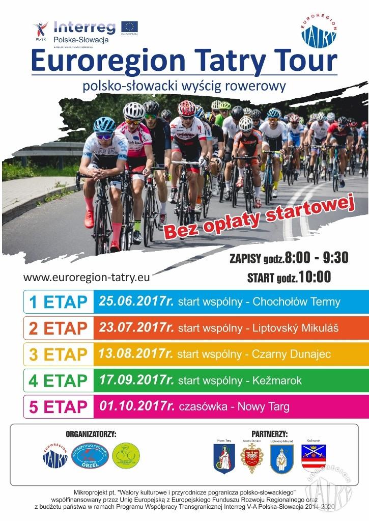 Piąty, finałowy etap polsko-słowackiego wyścigu rowerowego Euroregion Tatry Tour w Nowym Targu